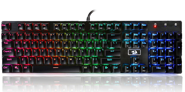 Second best gaming keyboard - Redragon K556 RGB