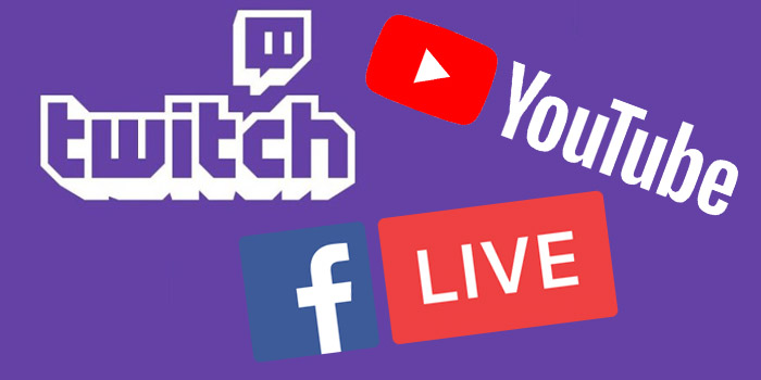 Multi streaming on YouTube, Facebook, and Twitch