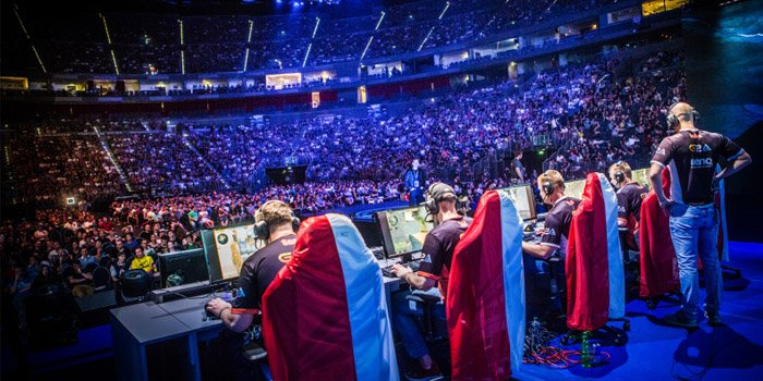 Esports stadium for professional gamers
