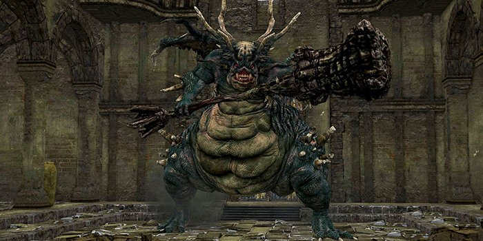 The first of all dark souls bosses - Asylum Demon