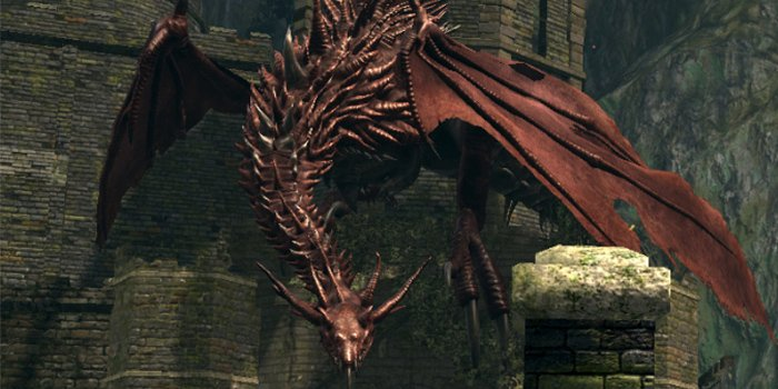 the first optional boss of all dark souls bosses - Hellkite Dragon