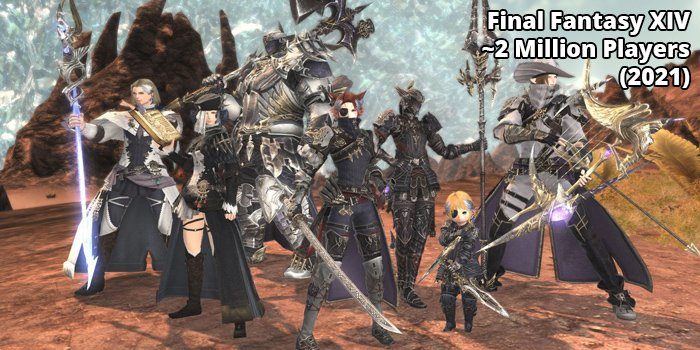 2nd Most popular MMORPG Final Fantasy XIV