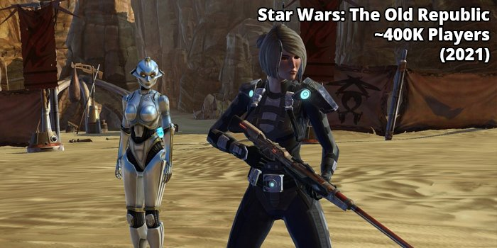 10th Most Played MMORPG Star Wars: The Old Republic