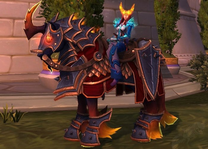 Prestige Bloodforged Courser - The 2nd rarest WoW mount