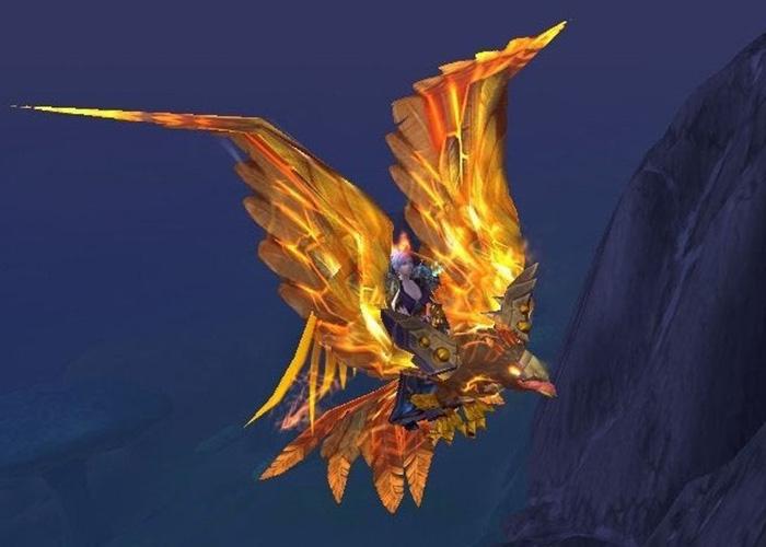 Solar Spirehawk - rare bird mount in WoW
