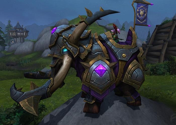 Vicious War Elekk - Rare alliance mount