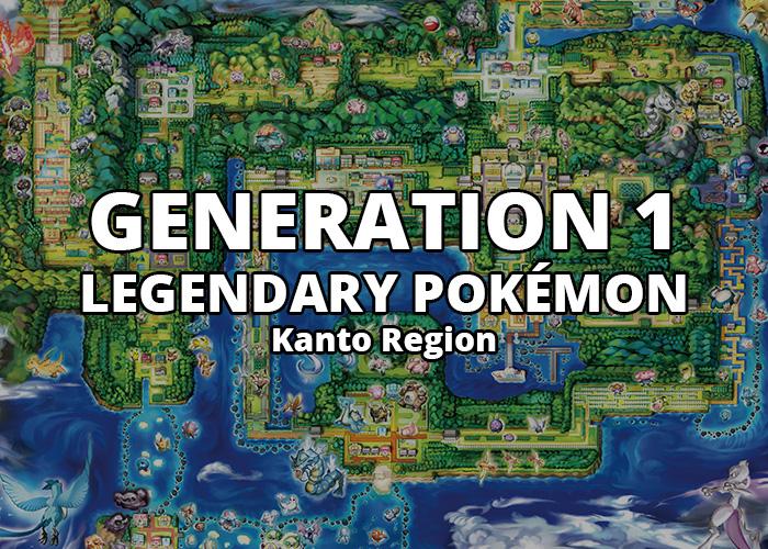 All Generation 1 Legendary Pokémon in Kanto Region