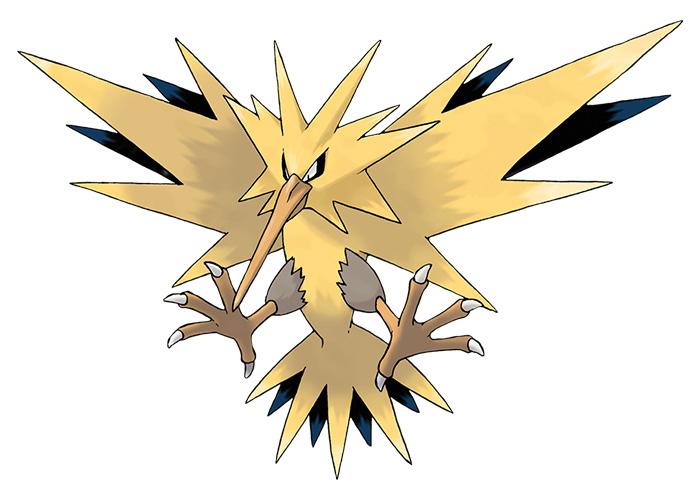 Electric Pokémon Zapdos